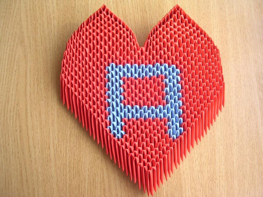 3dorigamiheartbyketike 3d origami art