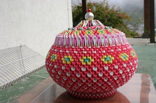 Модульное оригами шкатулка фото