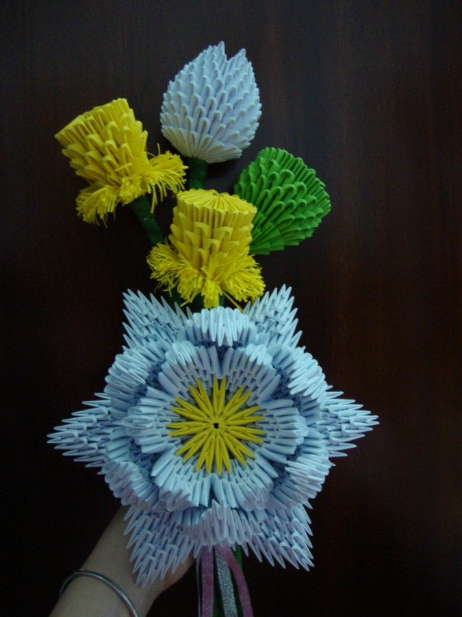 3d origami easy flower wwwimgkidcom the image kid