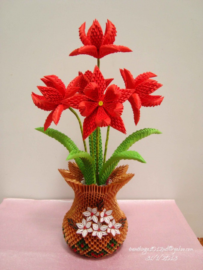 3d origami flower vase tutorial psychologyarticlesfo 3d origami flower vase tutorial mightylinksfo
