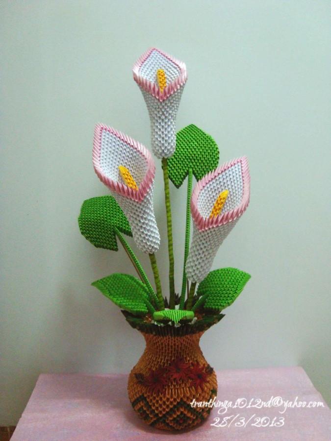 3d Origami Vase Tutorial 4