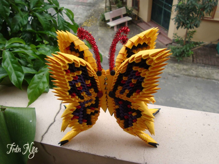 3d Origami Butterfly Magnet