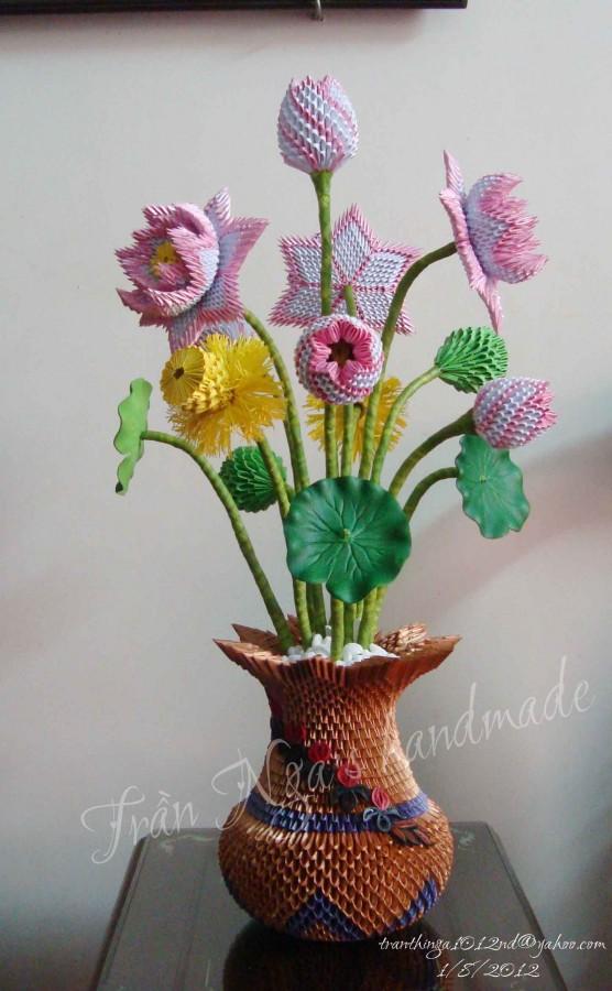 3d origami lotus vas… | Album | Nga | 3D Origami Art - photo#45