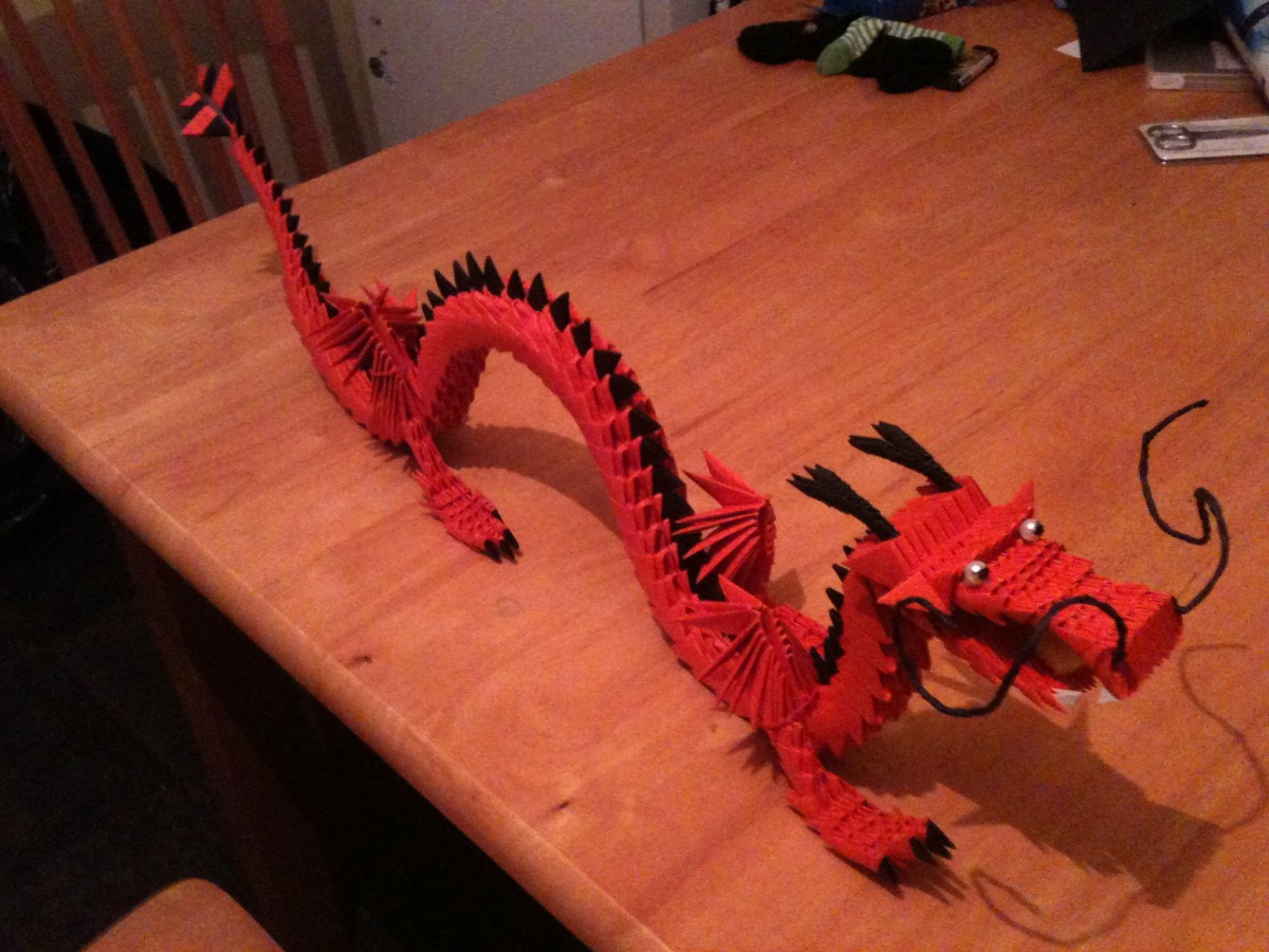 3d Origami Dragon With Stand Instructions 2977577