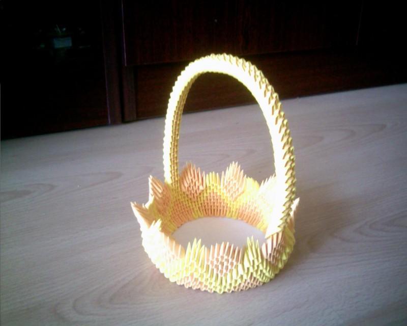 3d Origami Swan Basket Tutorial