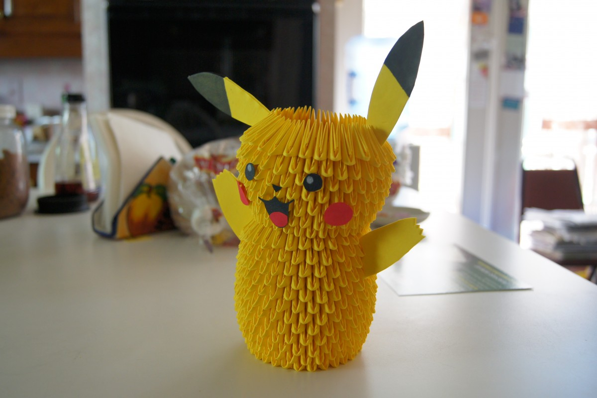 how to make 3d origami pokemon