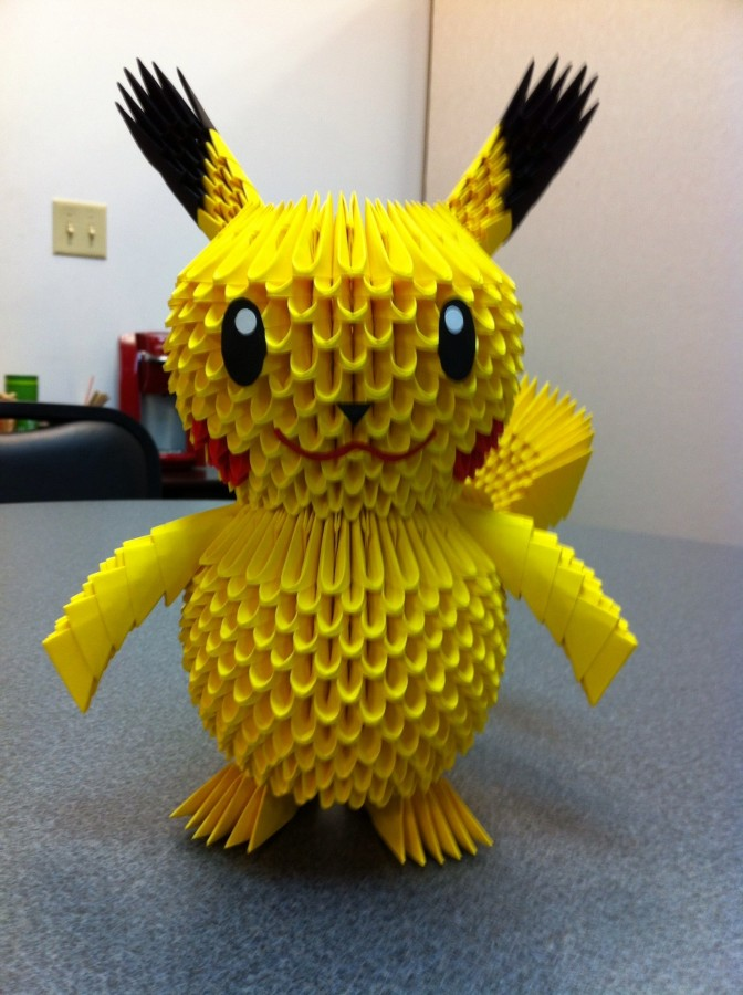 3d Pikachu Origami Image Collections Instructions Easy For