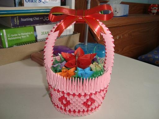 3d origami flower basket wwwpixsharkcom images