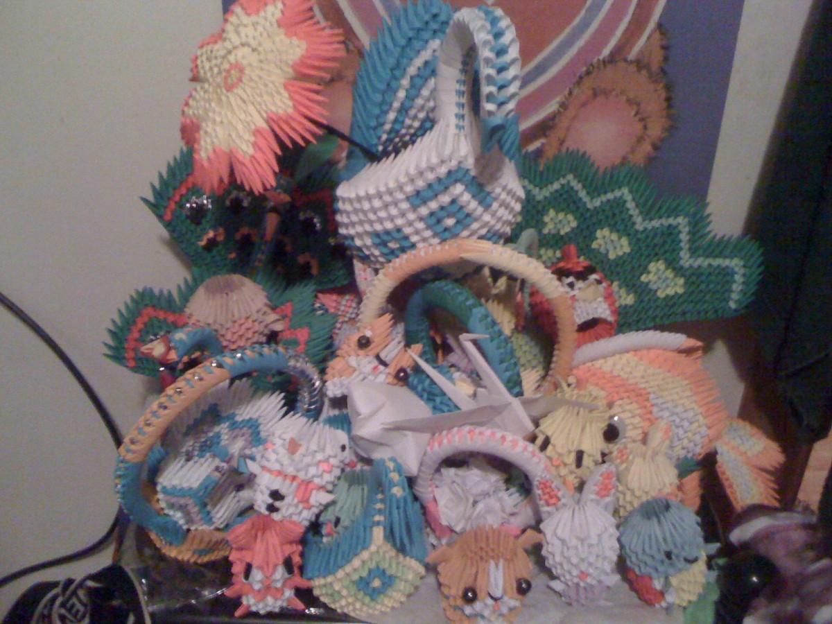 Flor 3d origami