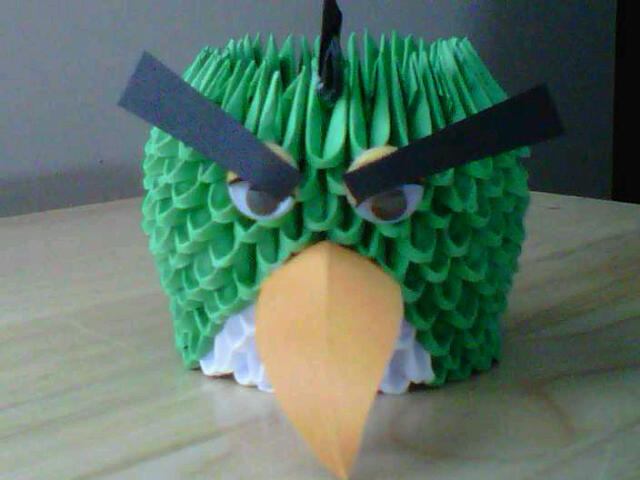 origami angry birds instructions