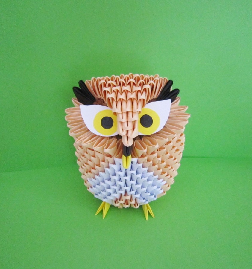 How To Make A Small 3d Origami Owl