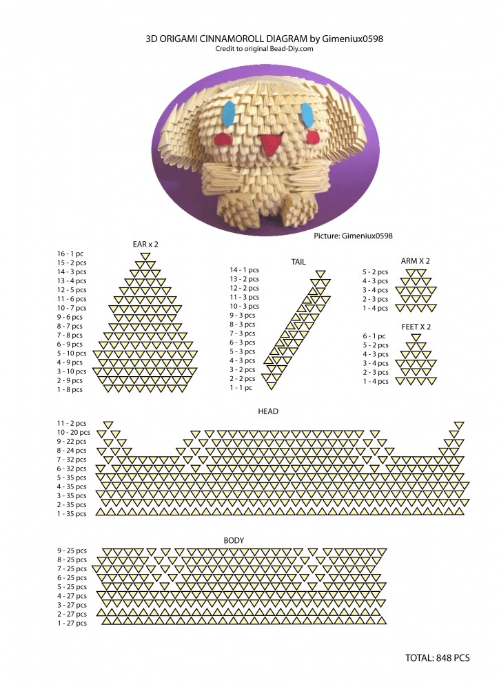 1000+ images about 3d origami patronen on Pinterest | 3d ... - photo#11