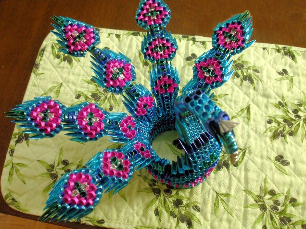 3d origami peacock… | Album | isabelle | 3D Origami Art - photo#24