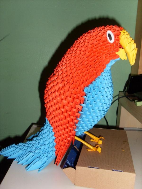 3d origami parrot 3d origami maneki neko