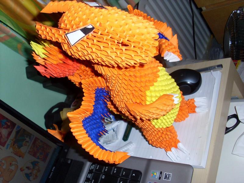 3d Origami Pokemon Charizard Dragon Tutorial 7781440