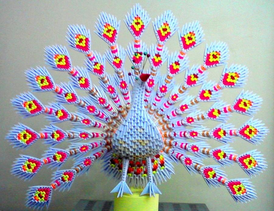 Поделки павлина модульное оригами
