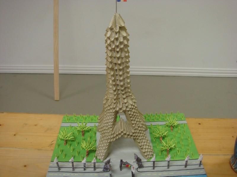 3d origami eiffel to� album tin dang 3d origami art